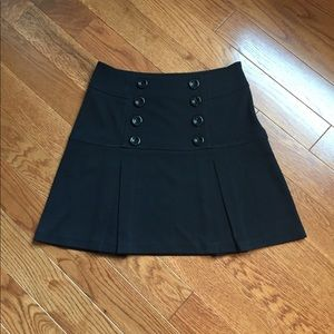 Black side zip A-Line pleated skirt size 7